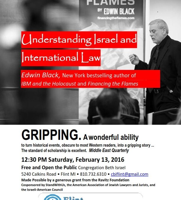 Edwin Black – Understanding Israel and Intl. Law